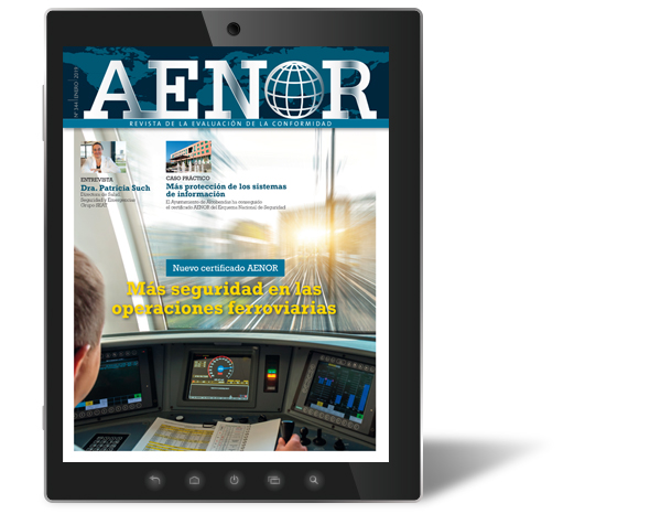 Revista AENOR, disponible el número de enero